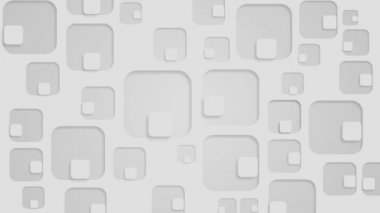Moving small white squares inside perforated big squares, loop — Stock Video