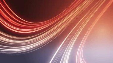 Abstrakt rotes Licht Linien Hintergrund, loop — Stockvideo