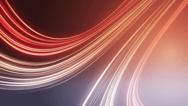Abstracta fondo de líneas de luz roja, lazo — Vídeo de stock