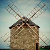 Windmill with toning effect — Stock Photo