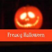 Halloween card with pumpkin lantern, blurred vector — Stock Vector