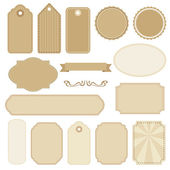 Set of blank vintage frames, tags and labels, vectors — Vetorial Stock