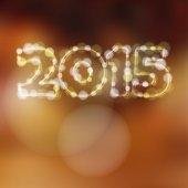 Happy new year greeting card, 2015 glitter lights vector  — 图库矢量图片