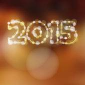 Happy new year greeting card, 2015 glitter lights vector  — Vetorial Stock