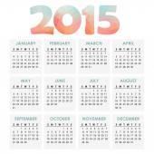 Calendar 2015 with polygon headline, vector illustration — Stock Vector
