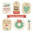 Retro set of christmas vintage gift, sale labels,tags — Stock Vector #57477889