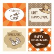 Set of Thanksgiving cards, invitations. Vector background — Stock Vector #58139469