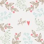 Cute floral valentines, wedding card, invitation, vector — Stock Vector #61251199