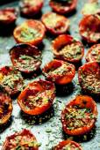 Baked cherry tomatoes — Stock Photo