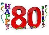 All for the good 80 birthday — Stock Photo
