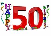 All for the good 50 birthday — Stock Photo