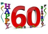 All for the good 60 birthday — Stock Photo