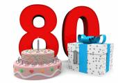 Happy Birthday with present and cake — Stock Photo
