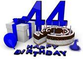 Happy birthday in blue — Stock Photo