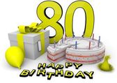 Happy birthday in yellow — Stock Photo