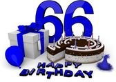 Happy birthday in blue — Foto Stock