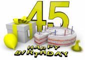 Happy birthday in yellow — Stock Photo