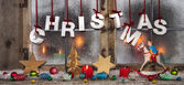 Colorful christmas decoration: idea for a xmas greeting card wit — Stockfoto