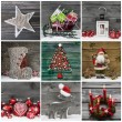 Collage of several different colorful christmas decoration on wo — Stock Photo #53893137