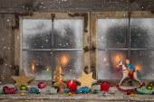 Christmas, red, decoration, candles, xmas, candlelight, merry, a — Zdjęcie stockowe
