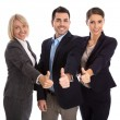 Isolated successful business team: man and woman with thumbs up. — Stock Photo #54464241