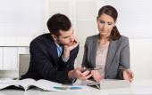 Successful young business people working in a team. — Stock Photo