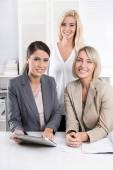 Successful woman business team in the office. — Stock Photo