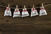 Greeting card for friends, valentine, christmas or birthday. — Stock Photo