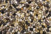 Natural pebble stones background. — Stock Photo