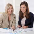 Team of successful businesswoman in the office working in leadin — Stock Photo #58409923
