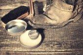 靴ケア — ストック写真