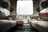 Abandoned train interior — Stock Photo