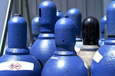 High pressure oxygen storage tanks — Stock Photo