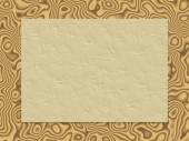 Beige crumpled paper on wood background — Stock Photo