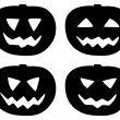 Halloween pumpkin icons set isolated on white — Stock Vector #54260975
