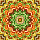 Colorful flower striped mandala — Stock Photo