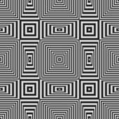 Geometric optical illusion seamless pattern with black and white stripes — Stock Photo