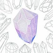 Watercolor Crystal — Stock Vector
