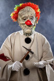 Scary monster clown — Stock Photo