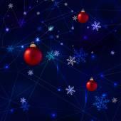 Sneeuwvlokken veelhoeken — Stockvector