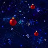 Snowflakes polygons — Stock Vector