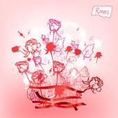 Rosesvalentines — Stok Vektör