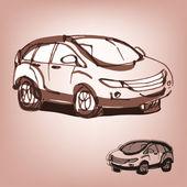 Car sketch — Stock Vector