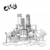 09 Cityscape — Stock Vector