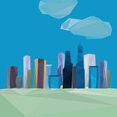 Cityscape poligonal — Vetor de Stock