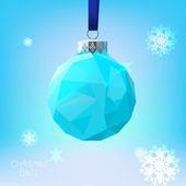 Polygonal Christmas ball — Stock Vector