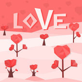 Heart trees — Stock Vector