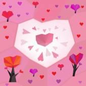 06 heart trees — Vetor de Stock