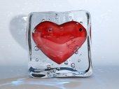 Ледяное сердце — Стоковое фото