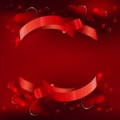 08 Banner hearts background — Stockvektor